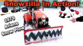 """Taryl's 1979 Ariens """"Snowzilla"""" Snow Plow In Action!"""