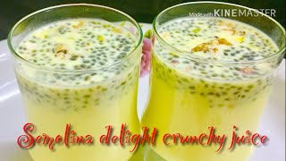 preview picture of video 'Semolina delight crunchy juice// നോമ്പ് തുറക്കുപോൾ നല്ലൊരു refreshing drink:-) My crazes ‼️'