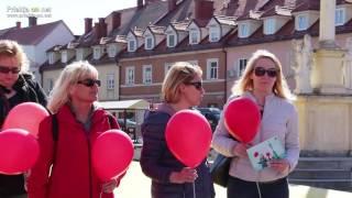 Pohod z rdečimi baloni v Ljutomeru