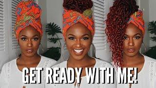 CHIT CHAT GRWM - Makeup Tutorial & 3 Headwrap Crochet Styles   Kiitana
