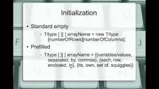 Java 2D array review