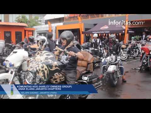 Komunitas HOG (Harley Owners Group) Anak Elang Jakarta Chapters, Kelapa Gading, Jakarta Utara