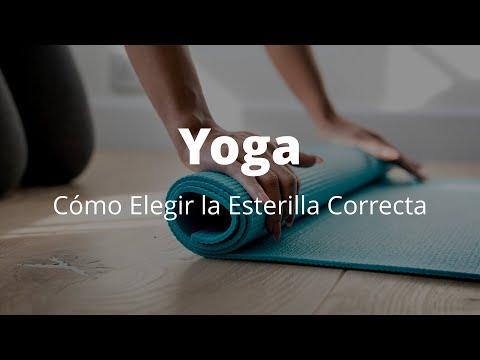 ¿Cómo elegir la esterilla o mat de yoga correcto?