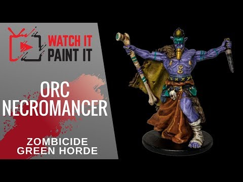 Zombicide Green Horde - Painting Orc Necromancer