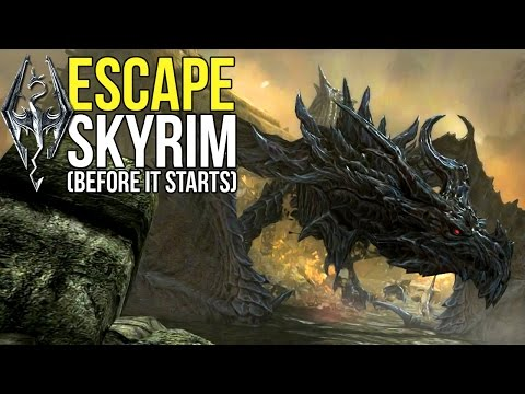 Skyrim Remastered - What Happens If You Escape Skyrim Before It Starts?