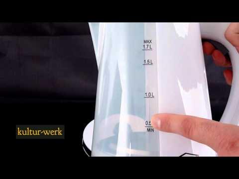 WASSERKOCHER in 3 verschiedenen Farben - 1,7L - kabellos bei Kultur-Werk