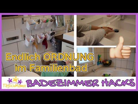 16 BADEZIMMER HACKS für ELTERN - Ordnung im Familienbad / mom hacks / Täglich Mama