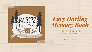 Lucy Darling Memory Book Flip Through & Review | Minimal Baby Book
