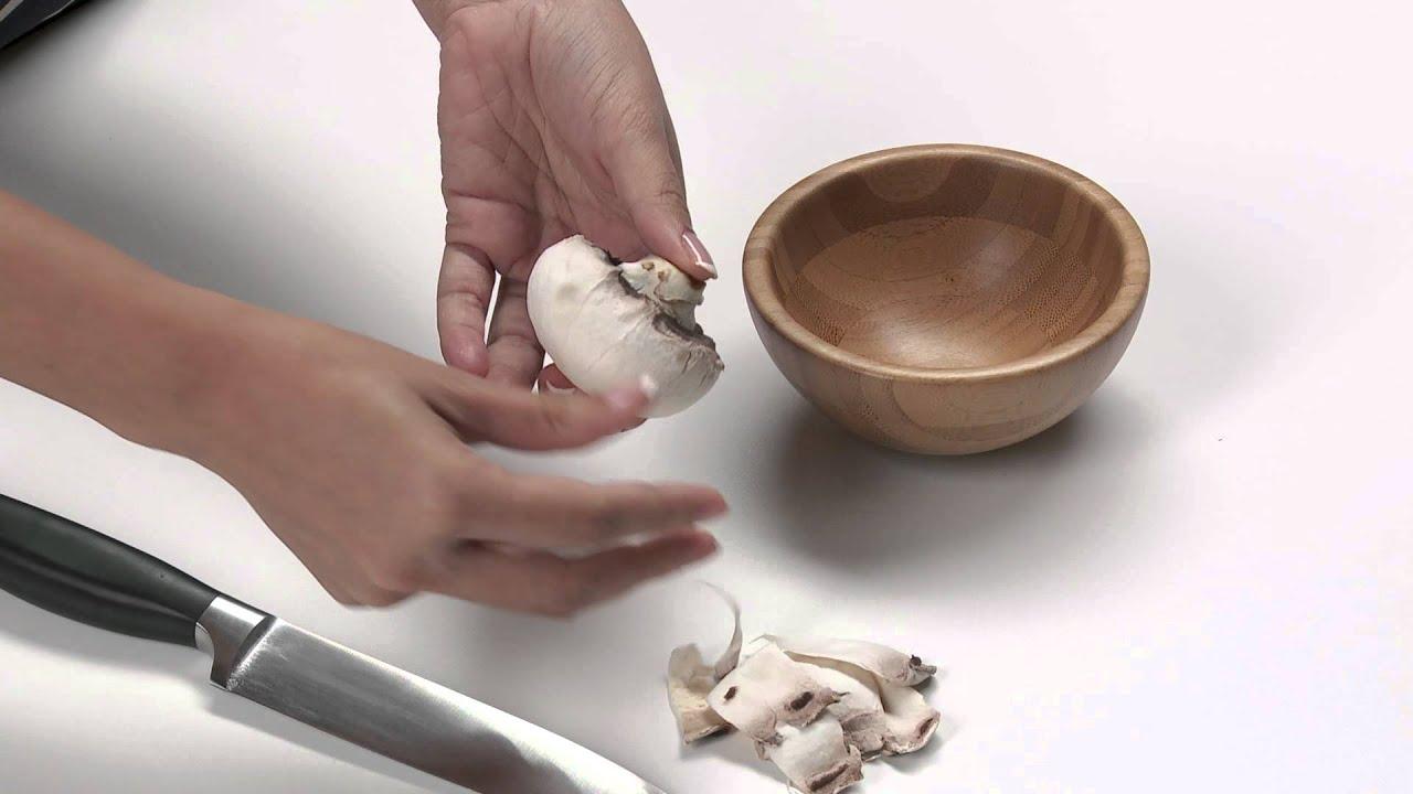 كيفية قطع الفطر إلى شرائح