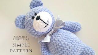 SIMPLE Crochet Teddy Bear Tutorial Part 1 / Beginner Friendly