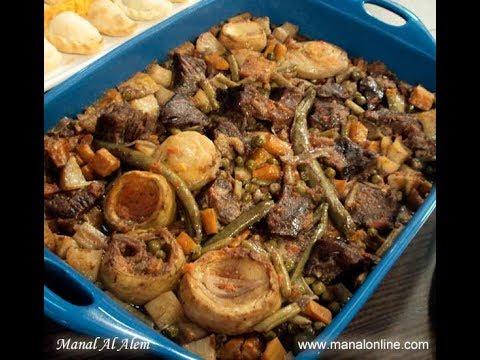 الطبق الرئيسي-صينية اللحم بالخضروات - منال العالم