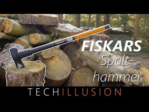 🛠BESTE AXT für's HOLZ HACKEN?! - Fiskars Spalthammer - Test
