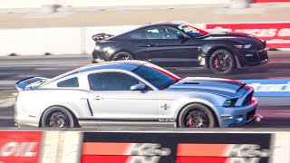 2020 SHELBY GT500 DRAG RACES 2014 GT500 SUPER SNAKE! 1/4 MILE PASSES