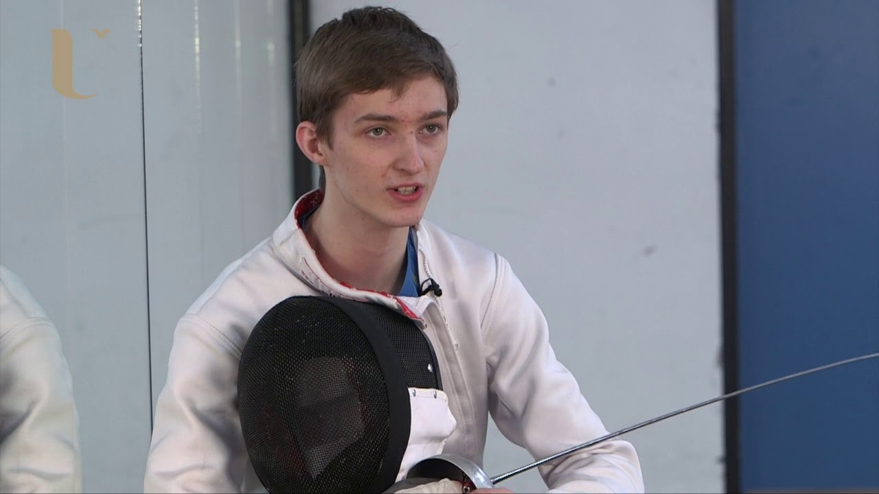 Jonathan Burnside, Fencer and student, describes the importance of the Sports Scholarship from the Student Fund on his success in fencing.
