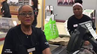 The singing cashier