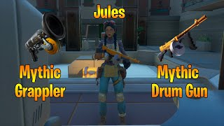 Jules, Mythic Grappler + Mythic Drum Gun Location in Chapter 2 Season 3 of Fortnite!