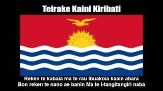 National Anthem of Kiribati (Teirake Kaini Kiribati) - Nightcore Style With Lyrics