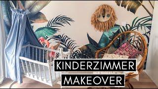 EXTREME KINDERZIMMER MAKEOVER: Baby-Wiege lackieren, Himmel nähen, Kissen färben und Dschungeltapete