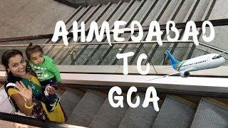 Ahmedabad to Goa flight Video    Goa Trip    First time Flight Journey tips