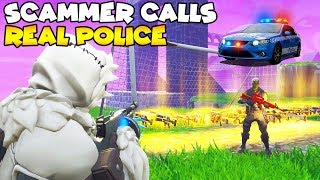 Scammer Calls The Police They Actually Came! 👮‍♀️🚔  (Scammer Gets Scammed) Fortnite Save The World
