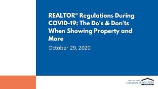 REALTOR® Regulations During COVID-19