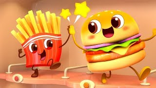 Cool Hamburger Vending Machine | Ice Cream,  Candy Song | Kids Pretend Play | Kids Song | BabyBus