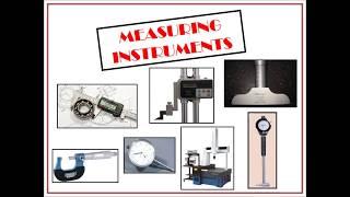 Measuring instruments Tutorial - 1