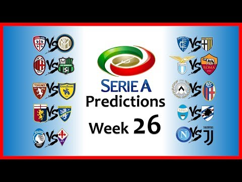 2018-19 SERIE A PREDICTIONS - WEEK 26
