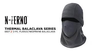 Ergodyne 6827 Fleece Balaclava Face Mask With 2-Piece Design & Neoprene Mouthpiece To Breathe Easy