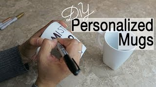 Personalized Coffee Mugs ~ Sharpie Mug Ideas