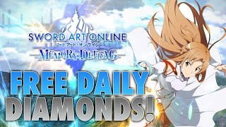 Sword Art Online Memory Defrag | How To Get Free Diamond's Every Day!