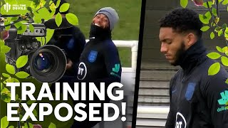 BUSHCAM: England  v Montenegro: Maguire Beats Sterling! TRAINING EXPOSED!