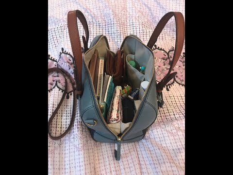 What's in my Fossil Rachel Satchel Bag. Similar to the Sydney.