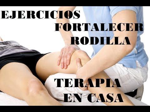 Un conjunto de ejercicios en la articulación de la rodilla