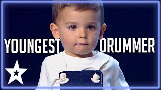 2 Y.O Baby Drummer Is The Youngest Contestant on Got Talent | Kids Got Talent