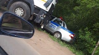 В нашумевшей аварии с участием МАЗа и патрульной машины в Рузаевке  было больше участников