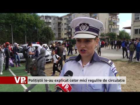 Polițiștii le-au explicat celor mici regulile de circulație