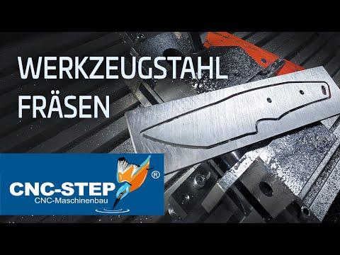 Fräsen eines Messer aus Werkzeugstahl