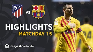 Highlights Atlético de Madrid vs FC Barcelona (0-1)