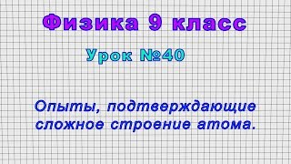 Физика 9 класс Урок 40 - Опыты, подтверждающие сложное строение атома.