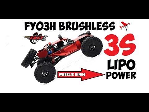 FEIYUE FY03H BRUSHLESS ON 3S LIPO - Wheelie Champ!