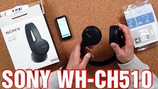 ✅ Sony WH-CH510 kabellose Bluetooth Kopfhörer als Geschenk | bis zu 35 Stunden Akkulaufzeit, Schwarz