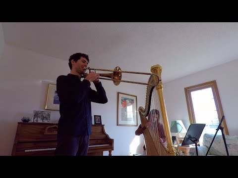 Here's a rendition of one of my favorite trombone solos, Sang til Lotta, played with harp instead of piano :)