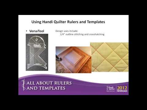 Using Handi Quilter Rulers and Templates Dec 2012