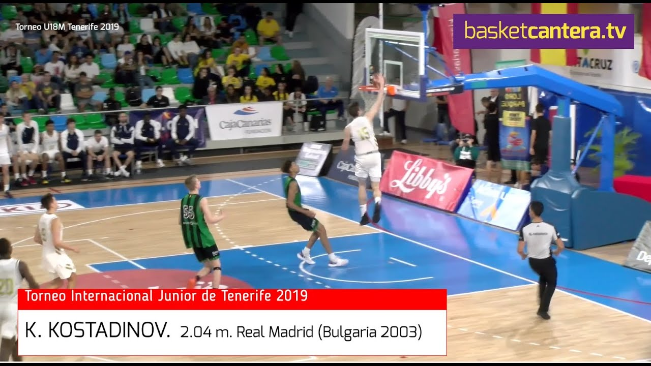 KONSTANTIN KOSTADINOV (´03)  2.04 m. Real Madrid. Torneo Junior Tenerife (BasketCanterera.TV)