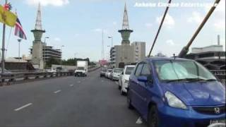 preview picture of video 'Bicycle de Go! 030 - Flood in Bangkok / From massive flooding Phra Pinklao area to Rama 8 Bridge'