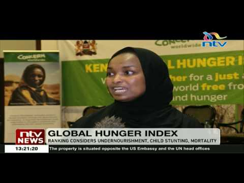 Kenya ranked position 77 out of 119 in the Global hunger index