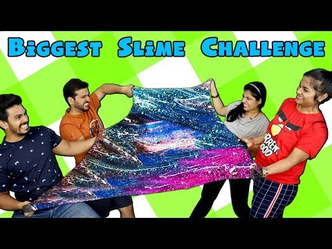 Biggest Slime Challenge | Big Slime Competition | Hungry Birds Slime Challenge