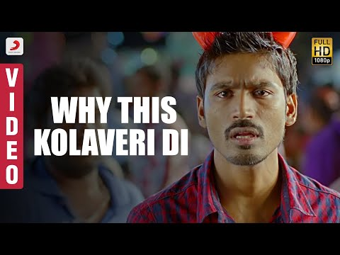 Official Video of Kolaveri Song from movie '3' featuring Dhanush