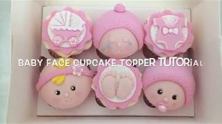 How To Make Baby Face Cupcake Toppers